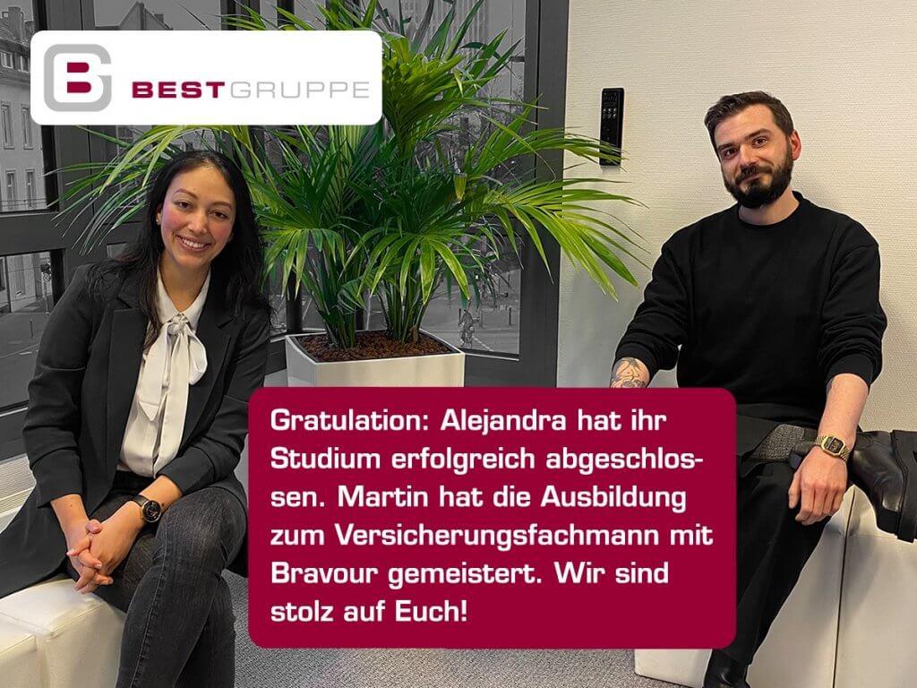 Alejandra und Martin haben ihre Prüfungen bestanden